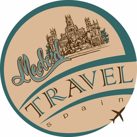 Travel. trip to Spain. City Of Madrid. Sketch. Cybele Palace and fountain at the Plaza Cibeles in Madrid, Spain.. Design concept for the tourism industry. Vector illustration. 일러스트