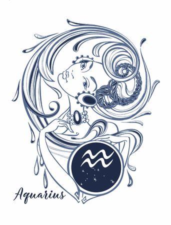544 Aquarius Tattoo Stock Vector Illustration And Royalty