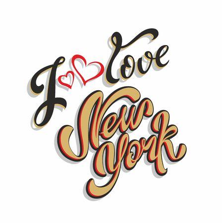 I love New York Lettering.