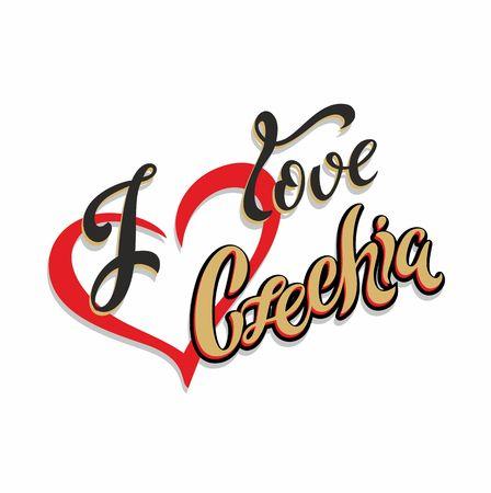 I love Czechia Lettering. Çizim