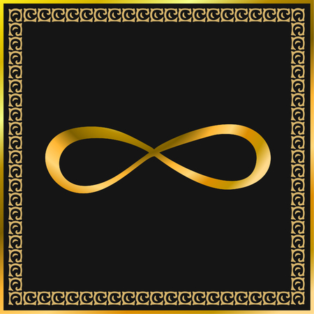 Sacred sign. The sign of infinity. Vector. Illustration