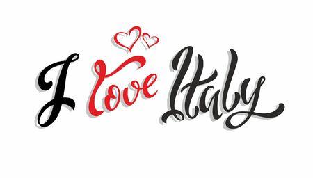 I love Italy. Vector illustration.  イラスト・ベクター素材