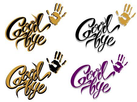 Goodbye  Hand lettering Design Vector