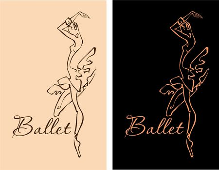 Ballet, Ballerina Dancer icon. Vector illustration.