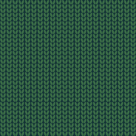 Seamless pattern. Knitted wool background.Winter. Green Texture  Vector Ilustrace