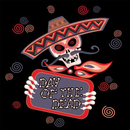 Day of the dead. Lettering. Holiday card Vector