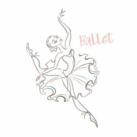 Girl ballerina. Ballet. Logotype Dancer Vector illustration Standard-Bild - 116008023