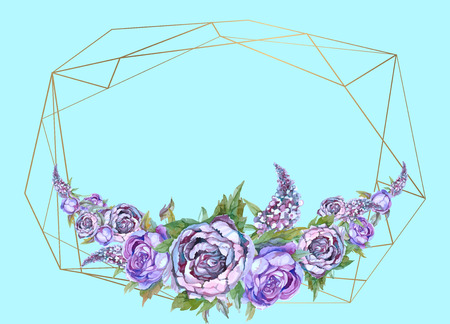 The frame is round. Roses. Gold. Vector illustration Vector Reklamní fotografie