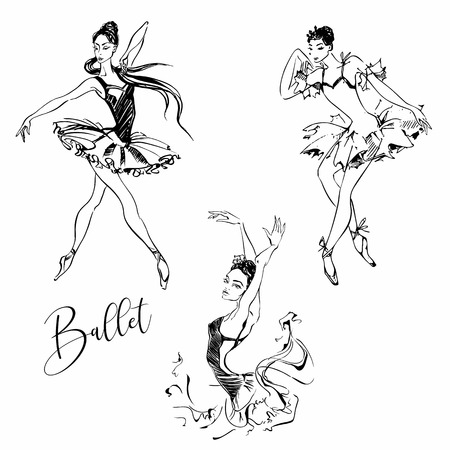 Ballerina. Dancer. Ballet Carmen  Graphics Vector illustration 일러스트
