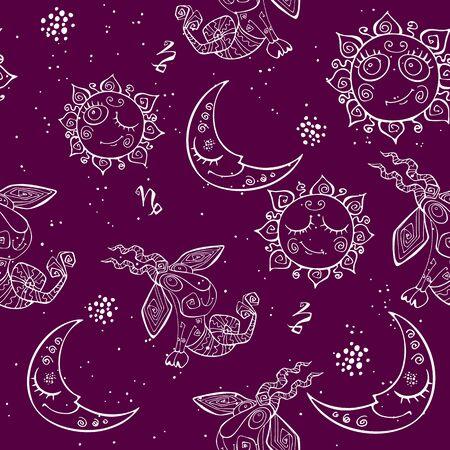 A fun seamless pattern for kids. Ilustração
