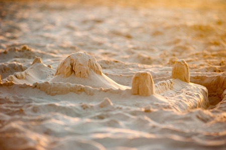 sandcastle: Detailed photograph of a sandcastle