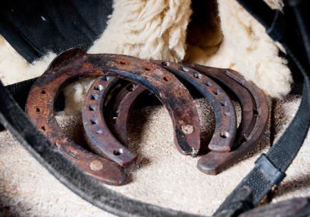 forgotten: rusty old forgotten horseshoes