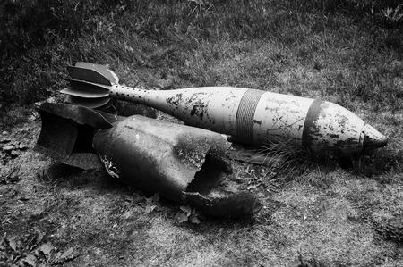 seconda guerra mondiale: vecchio esplose e inesplose di missili seconda guerra mondiale Archivio Fotografico