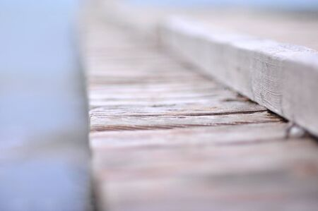 closeup detail of wooden pier closeup with shallow depth of field Imagens