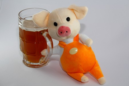 pig and alcohol