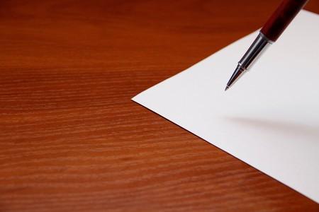 Papier und Stift Standard-Bild