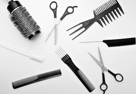 a set of tools for hairdresser