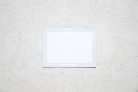 rectangular frame on the wall