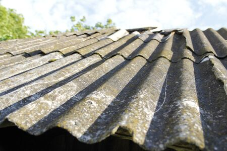 the old roof of the countryside Stok Fotoğraf