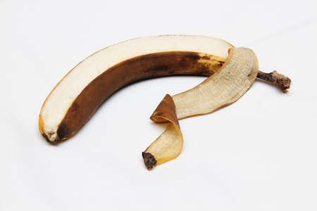 the banana peel has darkened