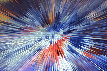 energy background: the multi-coloured explosion is very bright