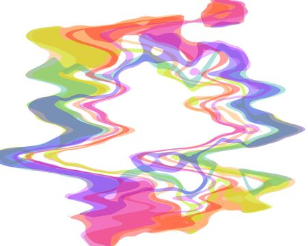 amorphous: creative multicolored amorphous abstraction in round shape with a lot of colors Stock Photo