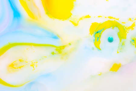Multicolor abstract background made of liquid and oil. Transparent and color paints.