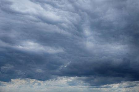 Overcast dark sky with gray cloud before rain