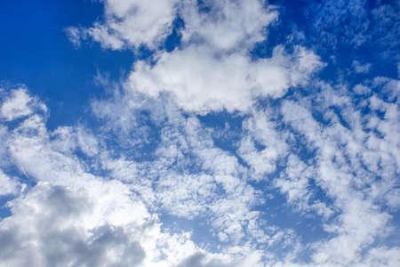 Nature background of blue sky and white clouds Reklamní fotografie