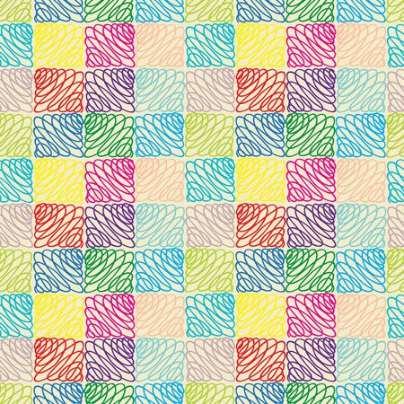 seamless pattern: Abstract multicolor seamless pattern Illustration