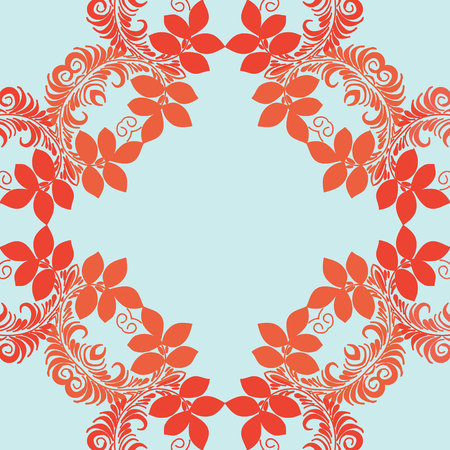 named person: Vector mandala. Abstract vector floral ornamental border. Lace pattern design. Vector ornamental border frame. Can be used for, cards, wedding invitations etc Illustration