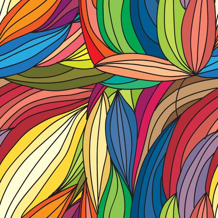 waves: Vector abstract hand-drawn waves texture, wavy background. Colorful waves backdrop