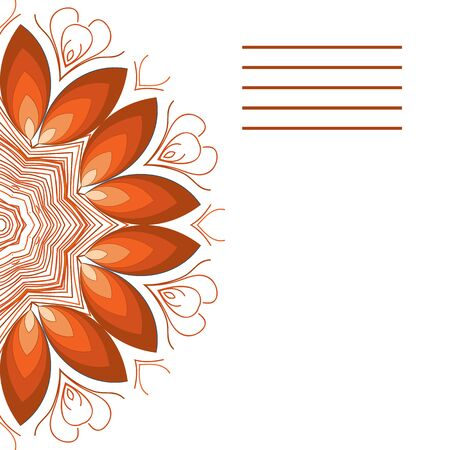 Vector mandala. Abstract vector floral ornamental border. Lace pattern design. Vector ornamental border frame. Can be used for, cards, wedding invitations etc Imagens - 45917365