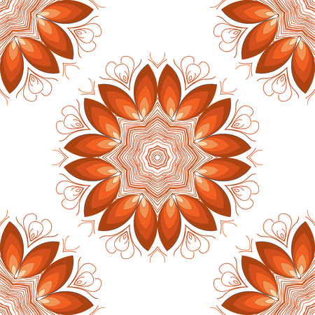Vector mandala. Abstract vector floral ornamental border. Lace pattern design. Vector ornamental border frame. Can be used for, cards, wedding invitations etc Illustration
