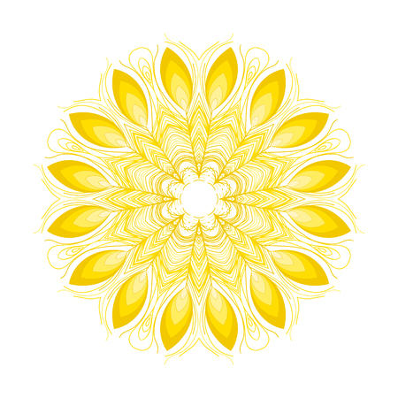 named person: Vector mandala. Abstract vector floral ornamental border. Illustration