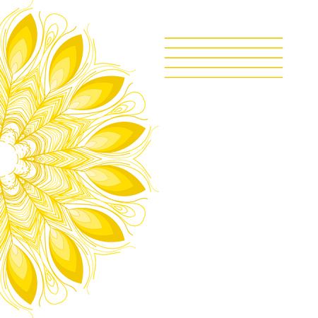 named person: Vector mandala. Abstract vector floral ornamental border.