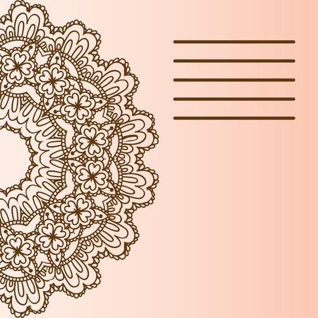 easily: Ethnic & Colorful Henna Mandala design, very elaborate and easily editable