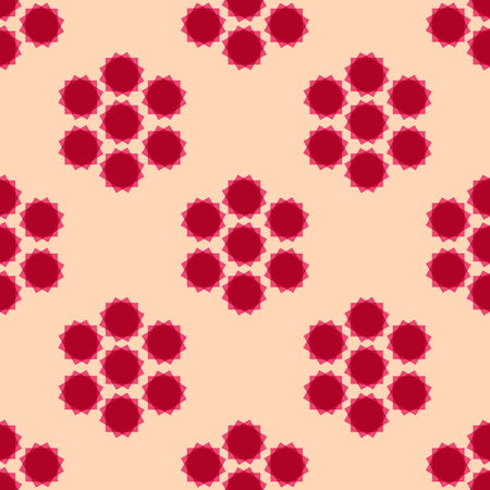 Abstract seamless pattern with spinning elements