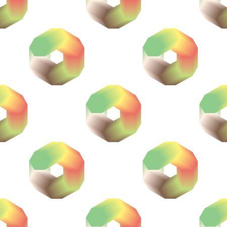 Abstract Seamless Circles Pattern. Vector Ilustração