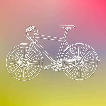 bike on a blurred background