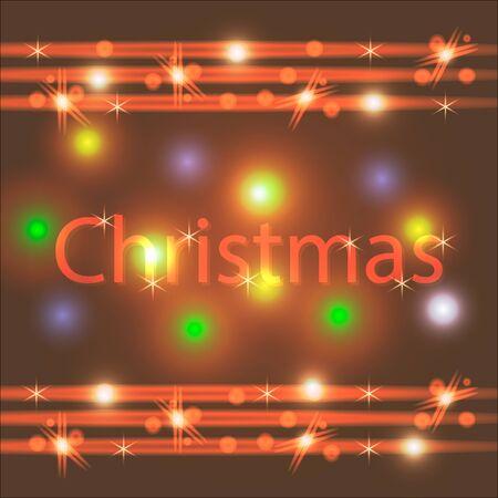 Christmas retro colorful background. Merry Christmas