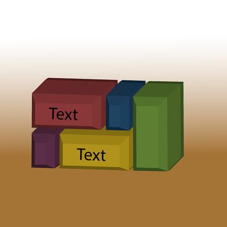 colored cubes for your design Ilustração