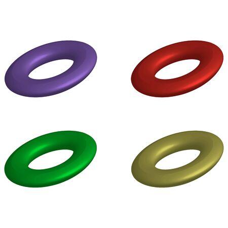 Circles vector design element