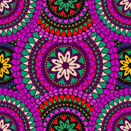 Mandala background. Vintage decorative elements. Hand drawn background. Islam, Arabic, Indian, ottoman motifs. Ilustração