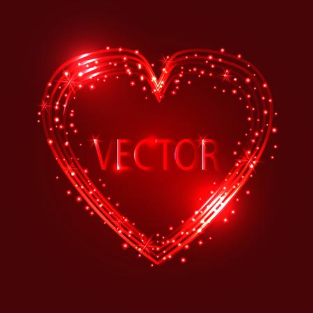 Happy Valentines Day Card Design. Vector Background. Ilustração