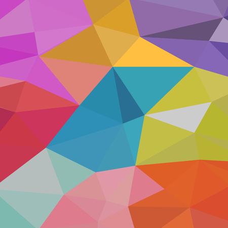 Background of geometric shapes. Colorful mosaic pattern. Retro triangle background Ilustração