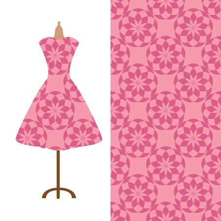 named person: Fabric pattern design for a womans dress. Perfect for printing on fabric or paper. Illustration