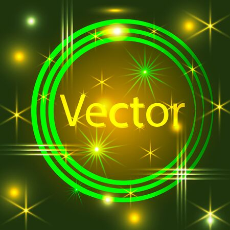 Circle Border with Light Effects. Vector illustration for your artwork