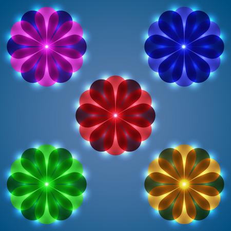 Design Elements. Flower. Ilustração