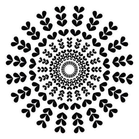 Simple Mandala. Vector Mandala. Floral. Flower. Oriental. Book Page. Иллюстрация